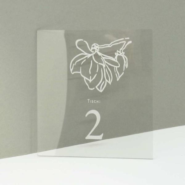 Tischnummern Magnolie Acryl