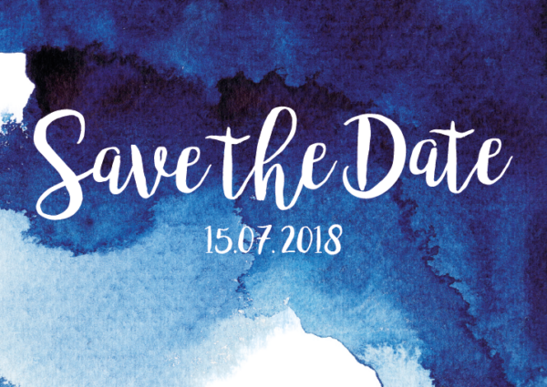 Aquarell Save the Date