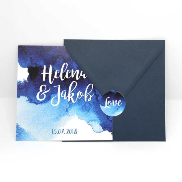 Briefumschlag dunkelblau