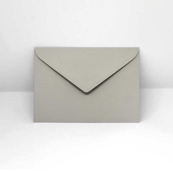 Briefumschlag Grau C6