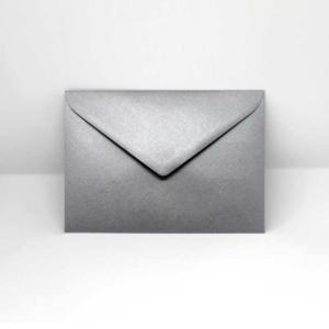 Briefumschlag silber metallic C6