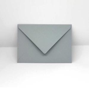 Briefumschlag wolkengrau c6