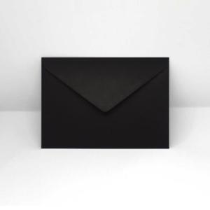 Briefumschlag schwarz C6