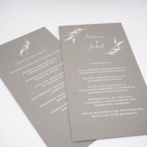 Menükarte Eukalyptus Hochzeitspapeterie