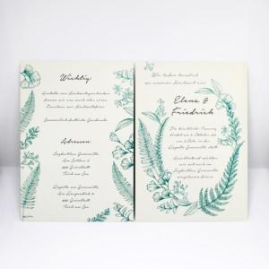 Einladungskarte zur Hochzeit Botanical