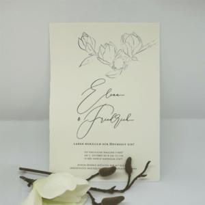 Hochzeitseinladung Magnolie Hochzeitspapeterie