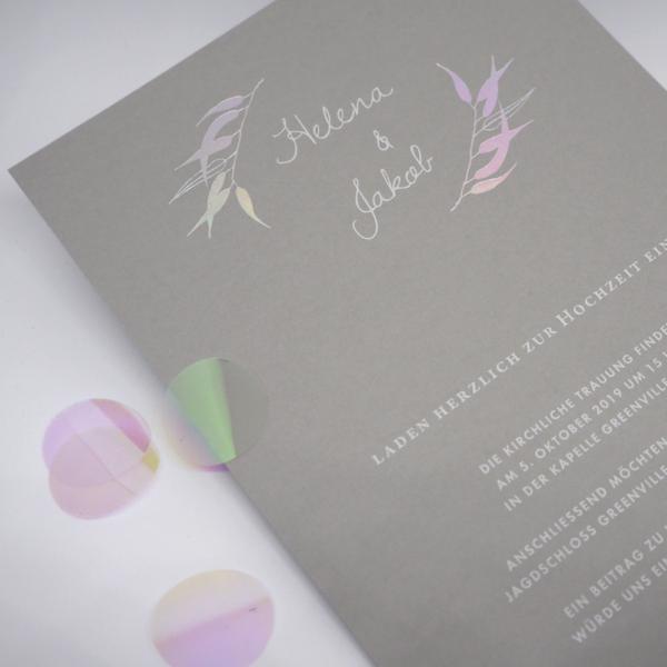 Hochzeitseinladung Eukalyptus