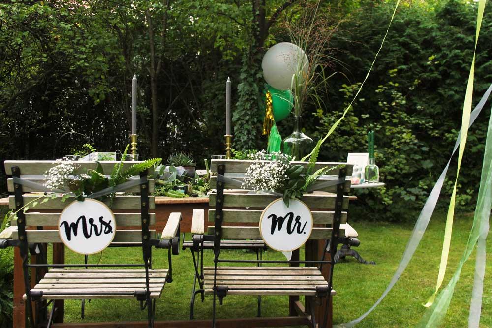 Zweiter Schritt: Hochzeitsdekoration und -accessoires!