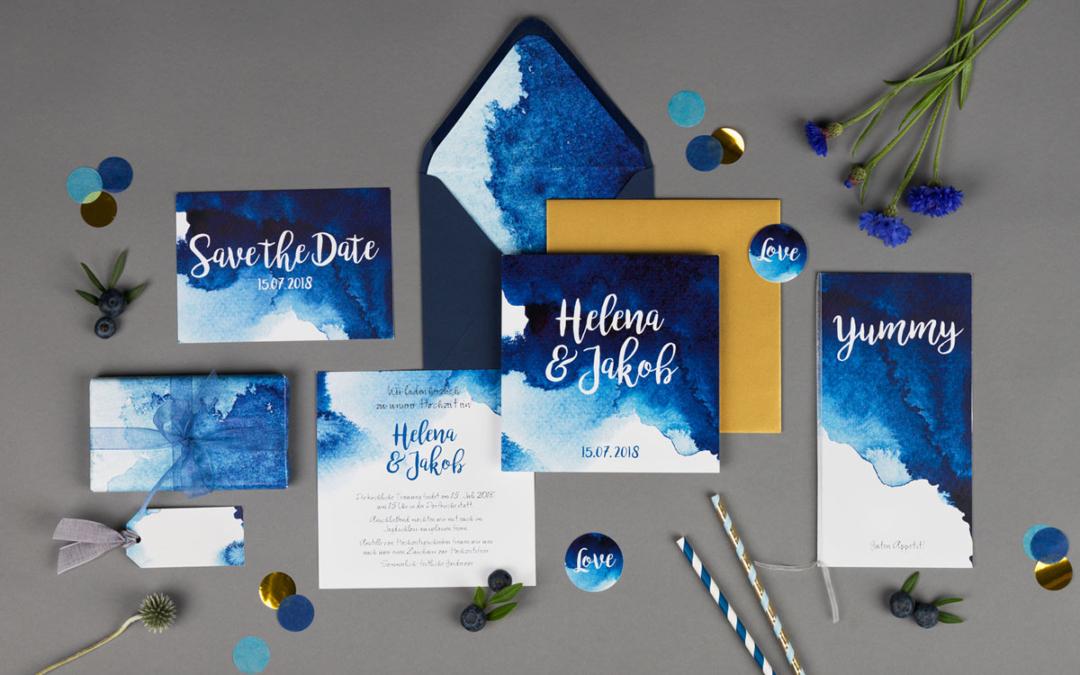 Hochzeitspapeterie Aquarell – weiterhin ein großer Trend!