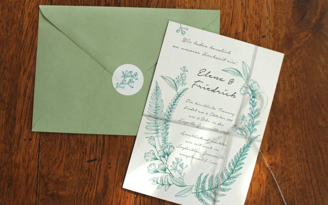 Erster Schritt: die Hochzeitspapeterie!