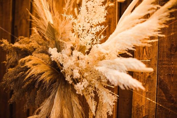 Hochzeitsfloristik Trockenblumenwolke