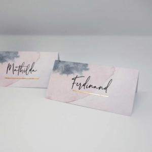 Tischkarte Aquarell