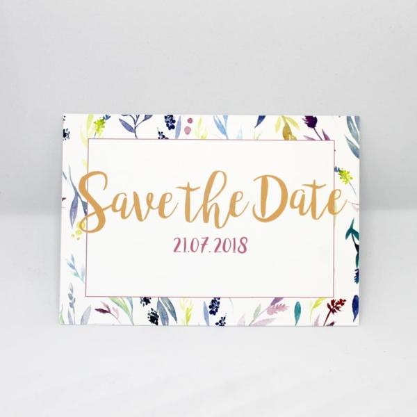 Save the Date Flower Hochzeitspapeterie