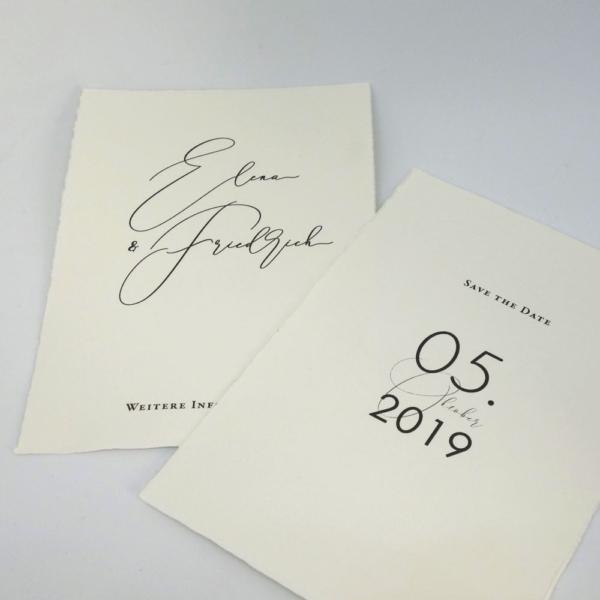 Save the Date Karten Magnolie Hochzeitspapeterie