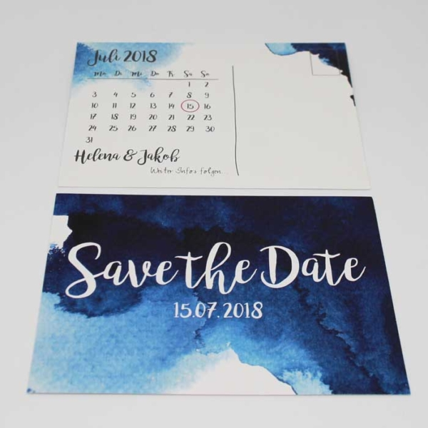 Save the Date Aquarell Hochzeitspapeterie