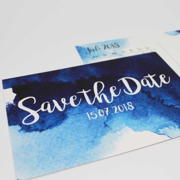 Save the Date Aquarell