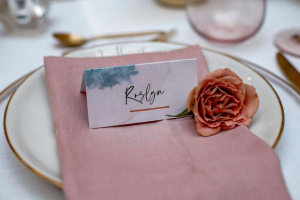 Namenskarte_Aquarell Hochzeitspapeterie