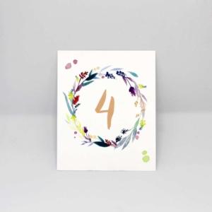 Tischnummern Flower