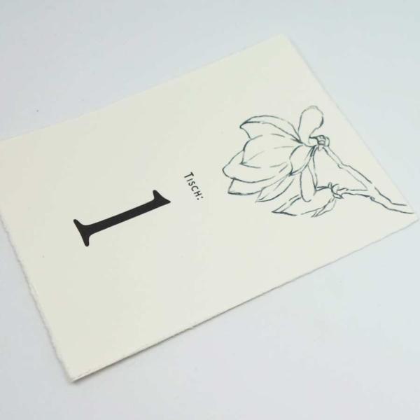 Tischnummer Magnolie